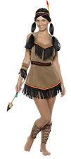 Lady's Wild West Native Indian Lady Squaw Fancy Dress Costume - Smiffys - Medium