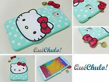 FUNDA CARCASA SILICONA PARA SAMSUNG GALAXY NOTE 3 N9000 HELLO KITTY VERDE