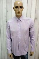 CALVIN KLEIN Taglia M Camicia Uomo Cotone Shirt Chemise Casual Manica Lunga