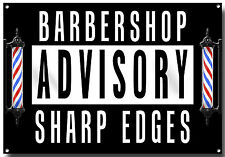 Coiffeur Advisory bords tranchants métal signe, cheveux, coiffeur, rasoir, Tattoo Flash