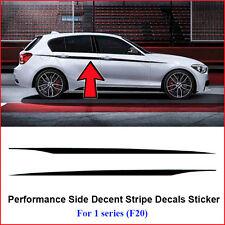 2pcs M Performance Side Door Stripes Decals Vinyl Sticker for BMW 1 Series F20