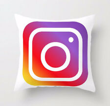 Luxury Microfibre Social Media Cushion Covers Decorative Pillow Cover 18 X 18 Instagram With Filling