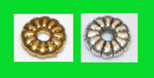 Tibetan Silver Gold Round Jewellery Making Beads