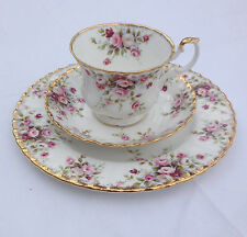 Royal Albert COUNTRY GARDEN Footed Tea Cup, Saucer & Luncheon Salad Plate - MINT
