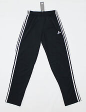 NWT ADIDAS 3-STRIPE Black-White Men's Track Pants Small pocket sweatpants jogger