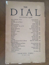 THE DIAL September 1928 MAXIM GORKI Sterling North HART CRANE Plates