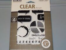 HERO ARTS STUDIO CALICO CLEAR STAMPS BACK TO SCHOOL 331236 WORD BUBBLE NEW A1124