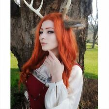Long Wavy Synthetic Copper Red Full Wig Halloween Costumes Hair Wigs for Women