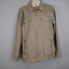 OAKLEY Field Jacket Coat Sz XL Men Canvas Khaki Tan Military Style zip e7