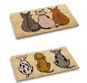 Fußmatten Kokosfaser Fußmatte Innen Außen Eingangsmatten Katze & Hund Design Neu