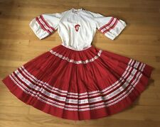 Desert Flower Originals of Albuquerque 2-pc Fiesta Dress Southwestern Red White