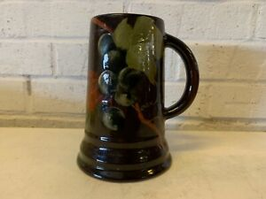 Antique Louwelsa Weller Porcelain Mug with Hand Painted Leaf Decorations