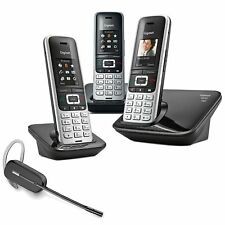 Gigaset S850A Cordless Phone 3 Handsets with Wireless Headset DECT