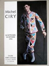 Michel CIRY Affiche originale Arlequin Portrait Théâtre Varengeville Arlequino