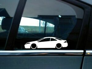 2x Lowered car outline stickers - for Mercury Cougar V6 coupe 8th gen 1999-2002