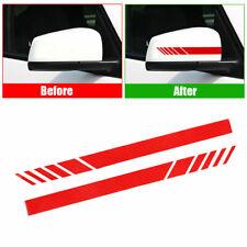 Car Auto Rearview Mirror Decor Carbon Fiber 5D Sticker Stripe Decal Accessories