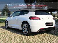 Heckstoßstange für VW Scirocco 13 R Line Stoßstange Heckschürze Rear Bumper ABS