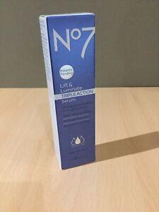 no7 lift and luminate triple action serum 30ml New In Box.