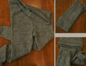 Woolen 3XL Trousers Pants Tights Gray  Unisex Therapeutic Knit Wool sheep #77