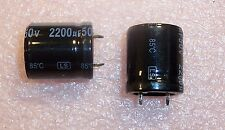 QTY (10) 2200uf 50V 85' LOW PROFILE  SNAP-IN ELECTROLYTIC LSZ222M1HN25H JAMICON