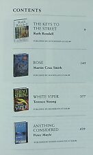 Reader's Digest.Four books in a hardback-R Rendell, M C Smith, T Strong, P Mayle