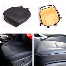 3D PU Leather Bamboo Charcoal Car Vehicle Seat Cover Protector Cushion Mat Black