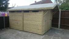 """12 x 10 19mm Tanalised APEX """"DULUXE HEAVY DUTY"""" Shed/Workshop with canopy"""