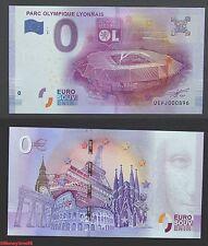 Billet touristique zero €uro, parc olympique Lyonnais, 2016, neuf