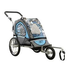 Blue and Black Steel Frame Jogger Single Child 2-in-1 Bicycle Trailer Bike Parts