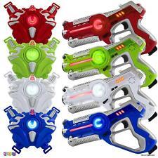 Laser Tag Gun 4 Piece Set Indoor Outdoor 4 Players Team Group Activity