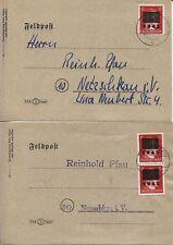Lokal Netzschkau-Reichenbach 8 I + 8 II b (2) je auf Orts-Sammler-Brief (B07100)