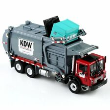 1:24 Scale Diecast Material KDW Transporter Garbage Truck Vehicle Car Model Toys