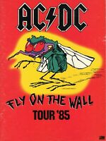AC/DC 1985 FLY ON THE WALL TOUR CONCERT PROGRAM BOOK-ANGUS YOUNG & BRIAN JOHNSON
