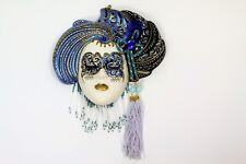 Authentic La Giola Women's face  wall decor ceramic murano glass mask Made Italy