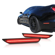 P.RA 2015-2017 Ford Mustang Smoked LED Side Marker Lights Rear LED Replacement