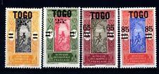 TOGO - 1924-1925 - Francobolli del 1921 soprastampati