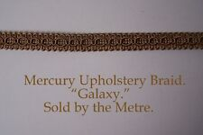 "Old Gold Upholstery Braid ""Mercury Galaxy"" 15mm wide (sold by the Metre)"