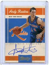 2010-11 CLASSICS #173 ANDY RAUTINS AUTO ROOKIE RC #183/699 - NEW YORK KNICKS