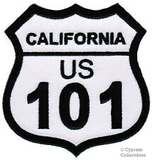 CALIFORNIA 101 iron-on MOTORCYCLE BIKER PATCH ROAD SIGN embroidered applique HWY
