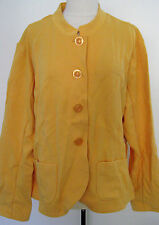 COLDWATER CREEK Yellow Cotton Blend Jacket With Design Size 2 X, NWT $ 79.50