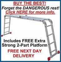 "NEW Superior ""BIG RED FOOT"" 4.75m Multi Purpose Ladder Ladders"