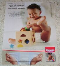 2004 ad page - Huggies Ultratrim Diapers - cute baby boy PRINT Advertising