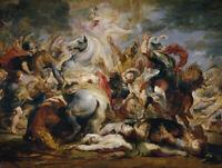 Death Of The Consul Decius Rubens Renaissance Fine Art Print CANVAS Home Decor S