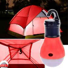 3x LED Light Outdoor Hanging Camping Tent Light Bulb, Fishing Lantern Lamp RED