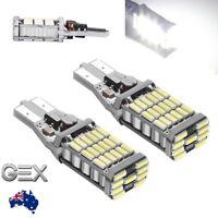 2pc T15 45 SMD Led Light W16W 2835 Bright White 6000k REVERSE Bulb Canbus