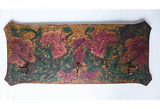 Art Nouveau Hand-carved and Painted Wood Coat Rack in Rose/floral Design