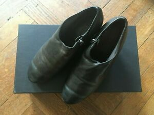 Marsell Designer Shoes - Charcoal/Black Leather - Sz 36 - With Box