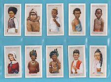 NATIONS - FRANKLYN DAVEY - SET OF 50 CHILDREN  OF  ALL  NATIONS  CARDS  -  1934
