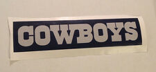 "Dallas Cowboys Fathead Official Team Sign Banner 18"" x 4"" Blue Nfl Wall Graphics"