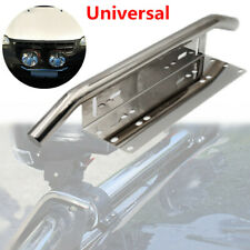 1PC Offroad SUV Bumper License Plate Mount Bracket For LED Work Fog Light Silver